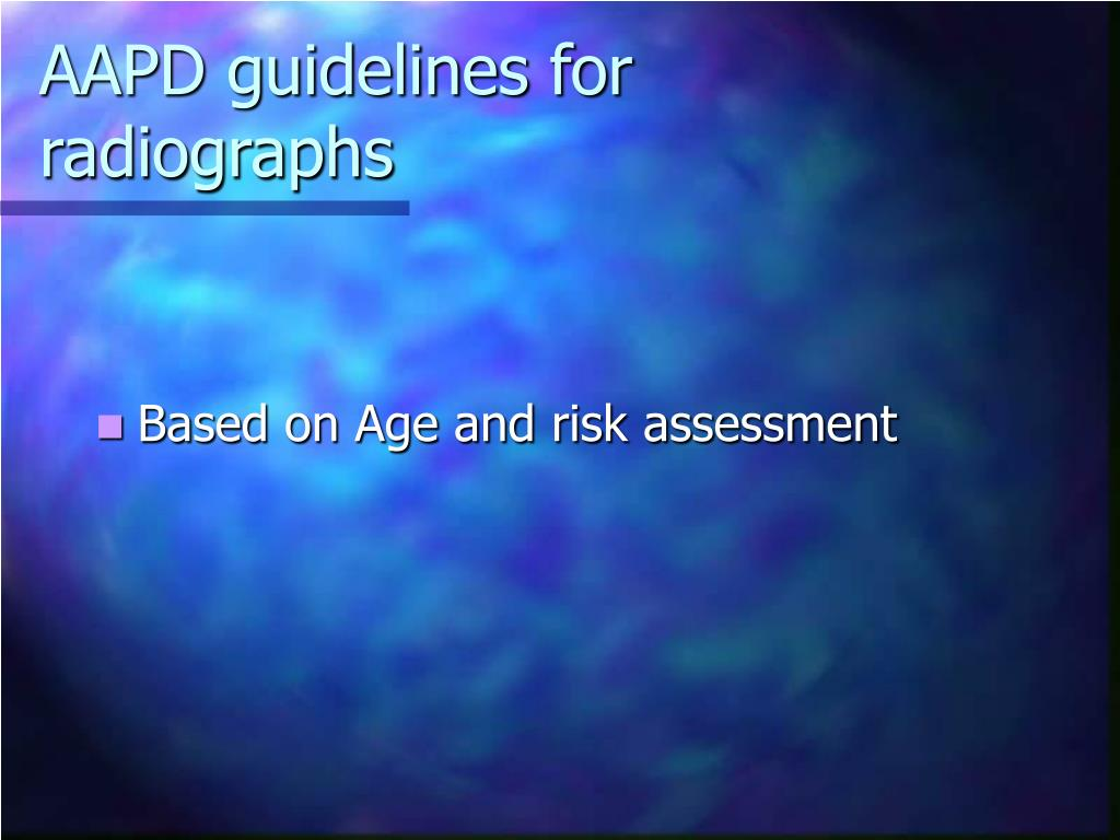 AAPD guidelines for radiographs
