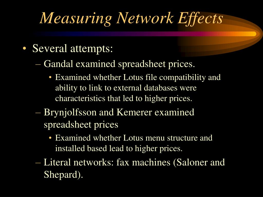 Measuring Network Effects