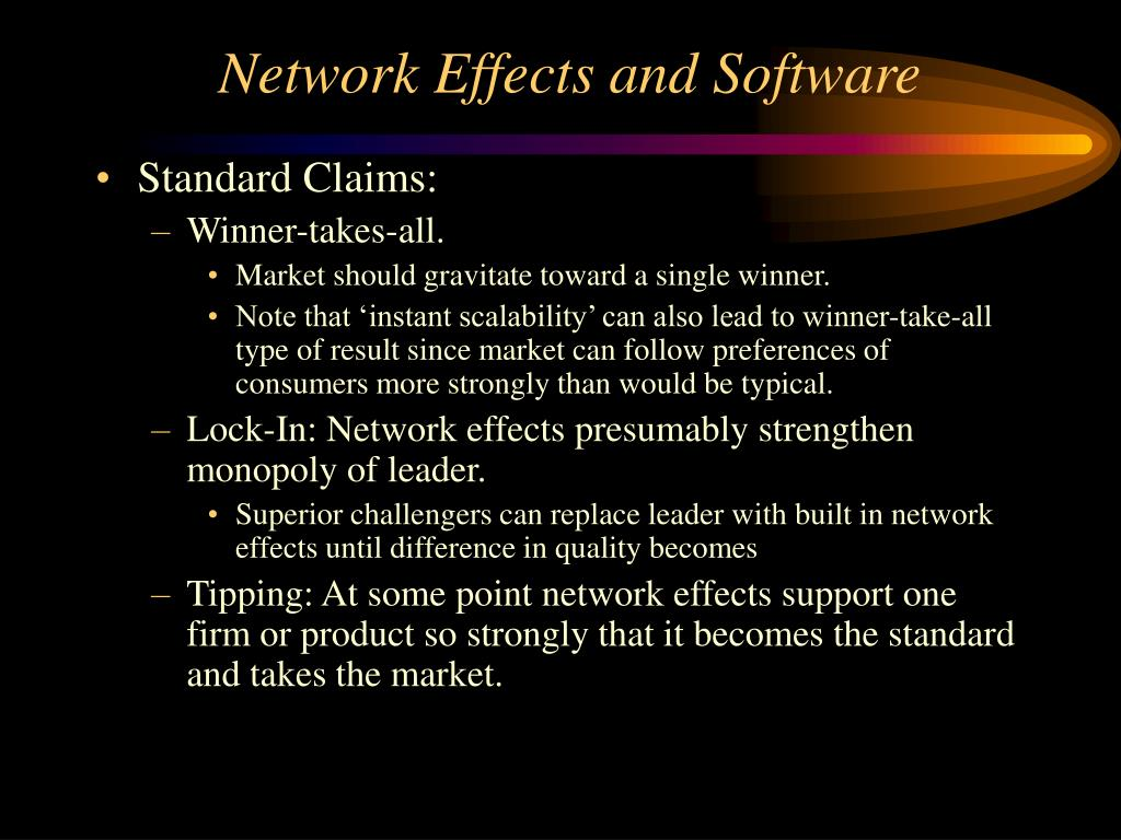 Network Effects and Software