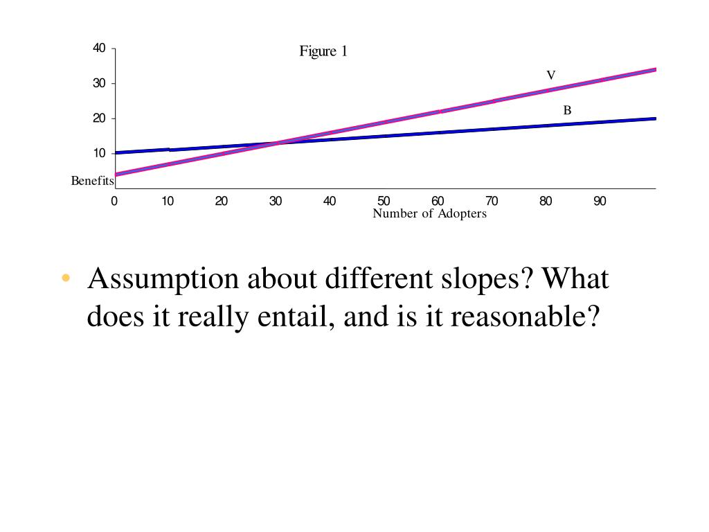 Assumption about different slopes? What does it really entail, and is it reasonable?