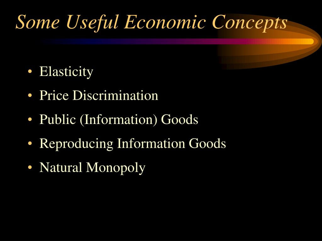 Some Useful Economic Concepts