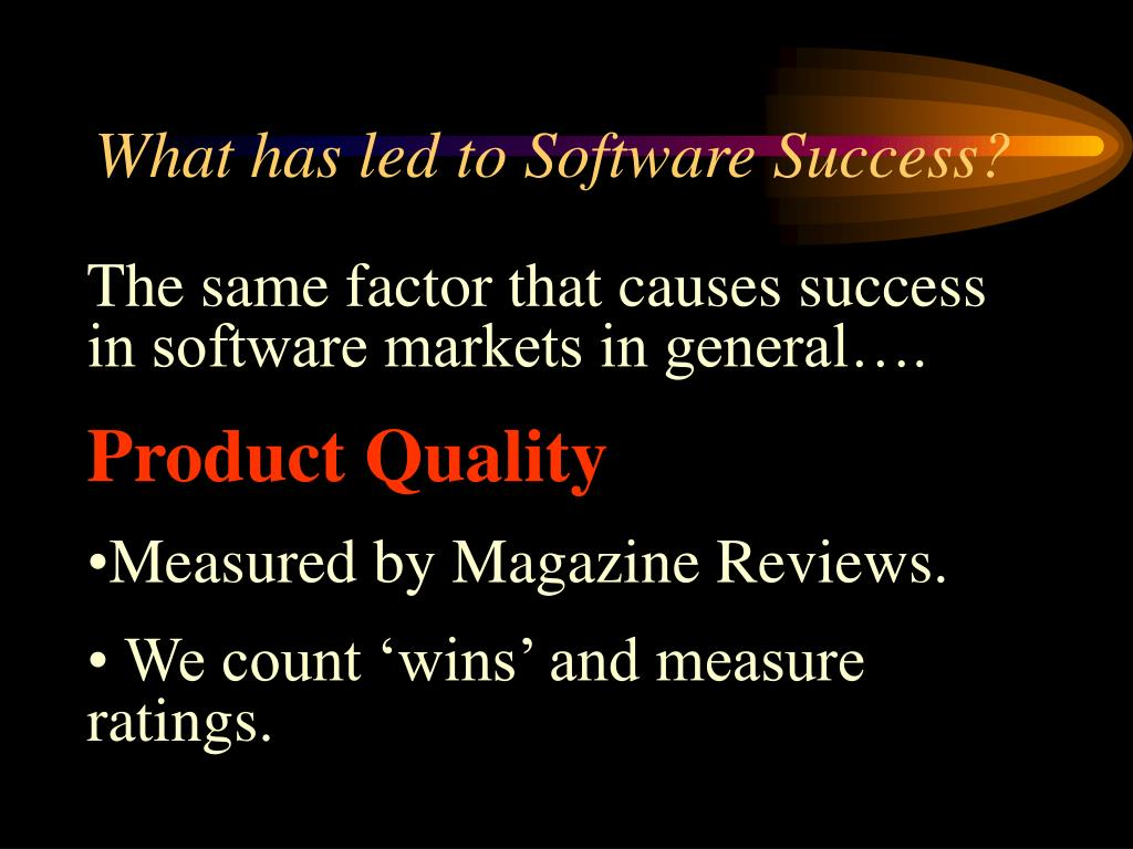 What has led to Software Success?
