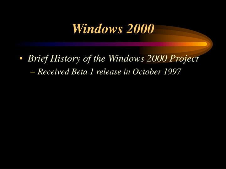 Windows 20002