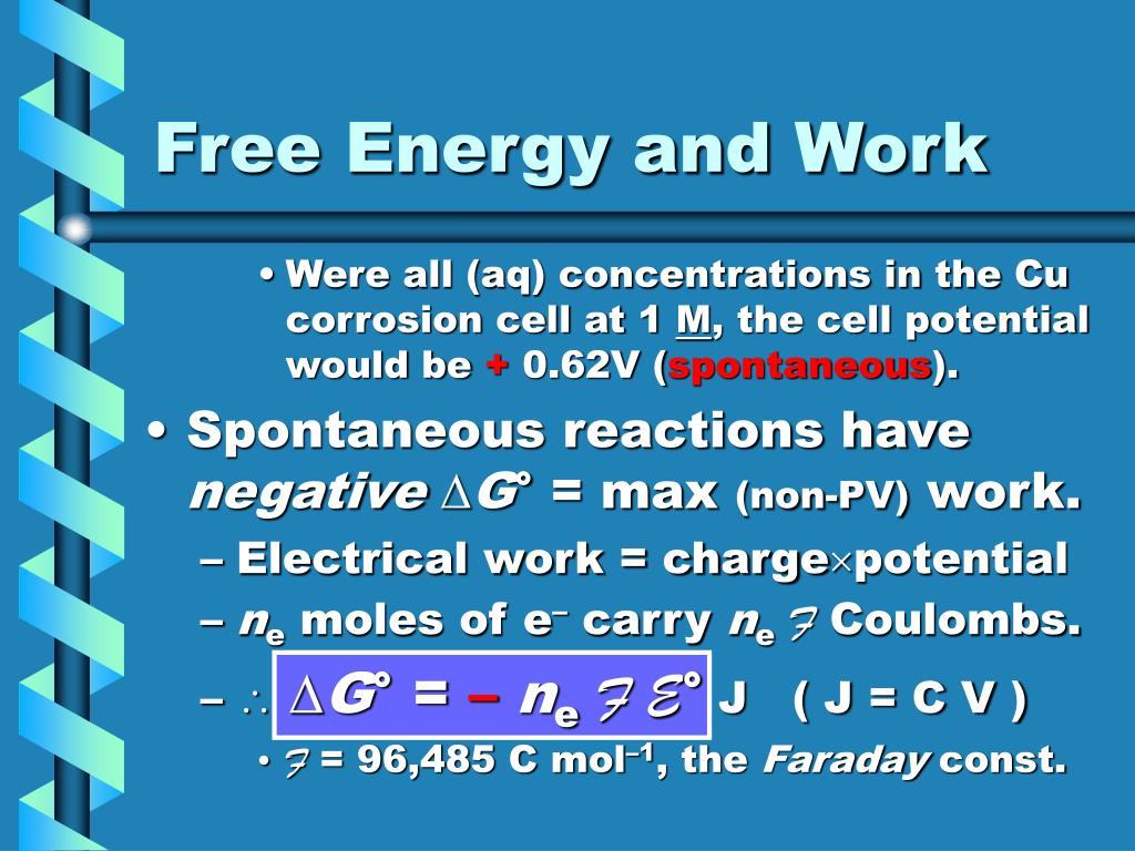 Free Energy and Work