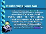 recharging your car
