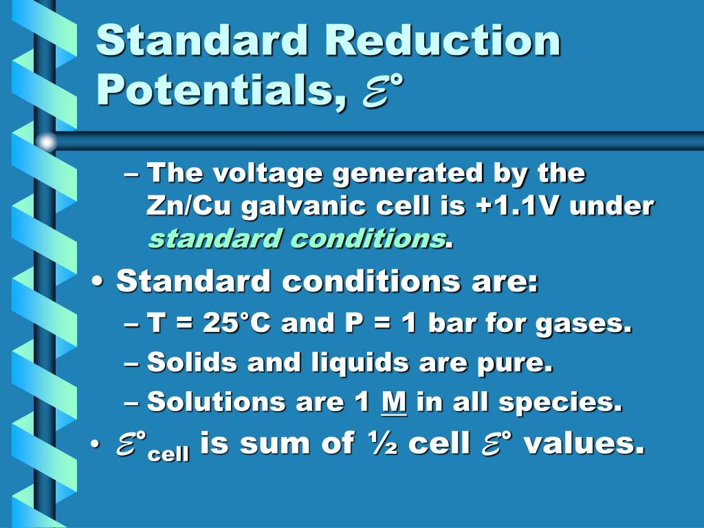 Standard Reduction Potentials,