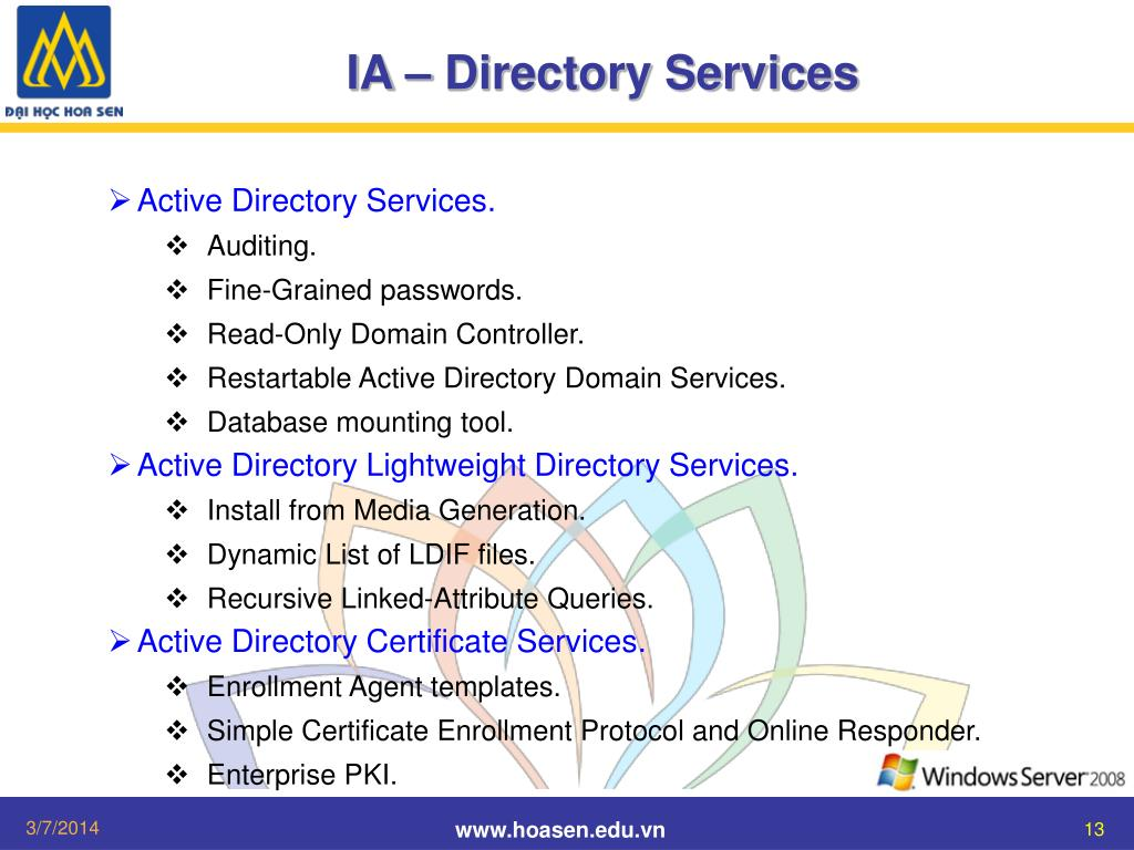 IA – Directory Services