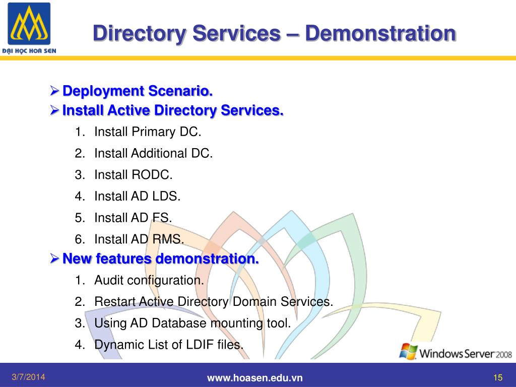 Directory Services – Demonstration