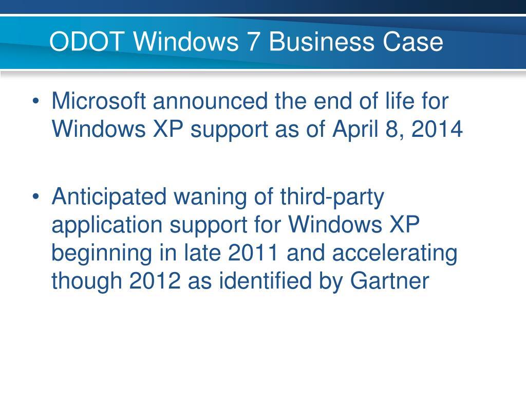 ODOT Windows 7 Business Case