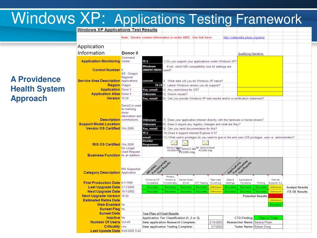 Windows XP: