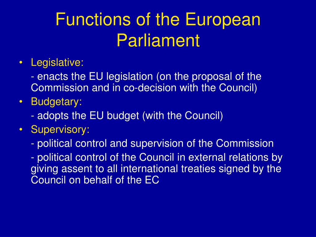 Functions of the European Parliament