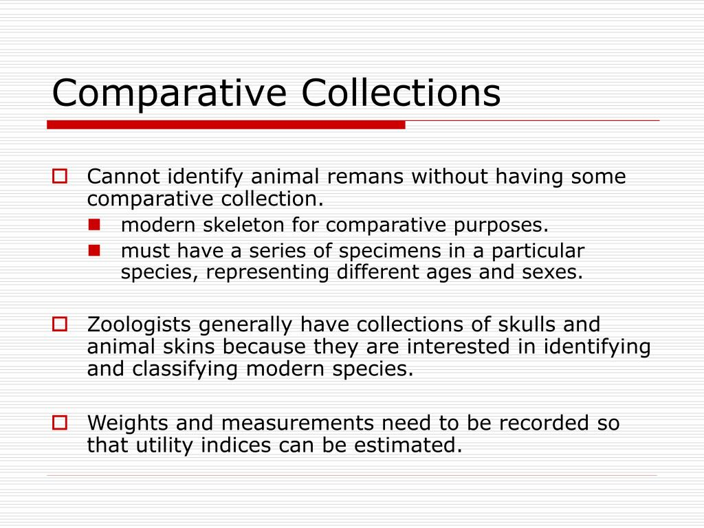 Comparative Collections