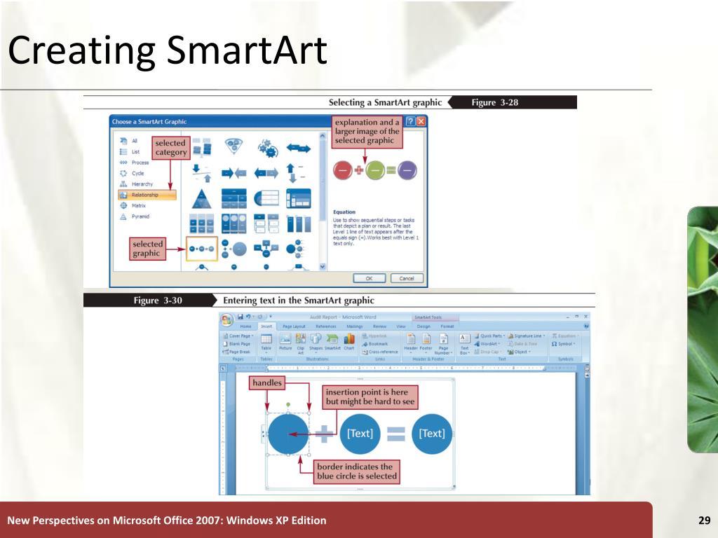Creating SmartArt