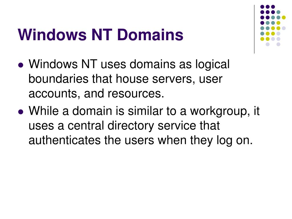 Windows NT Domains