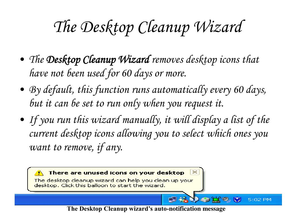 The Desktop Cleanup Wizard