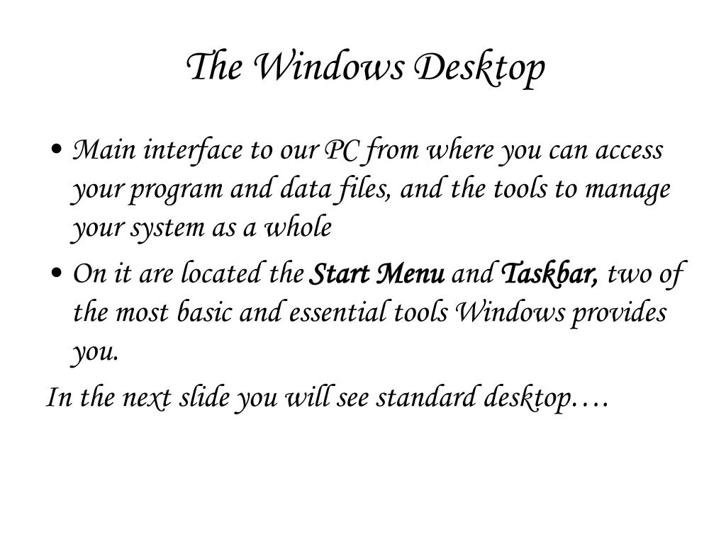 The Windows Desktop