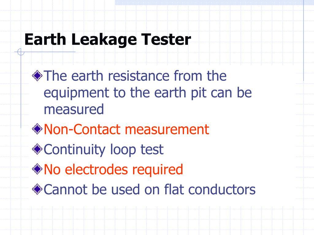 Earth Leakage Tester