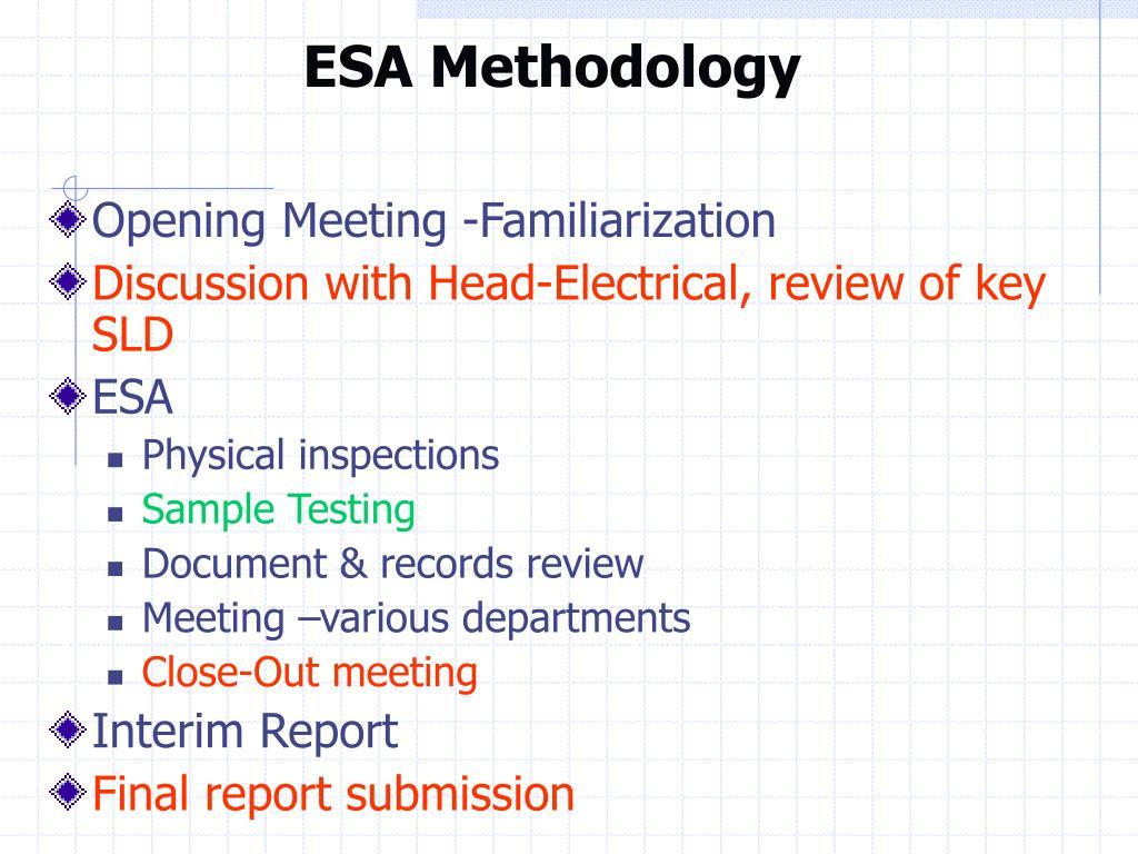 ESA Methodology