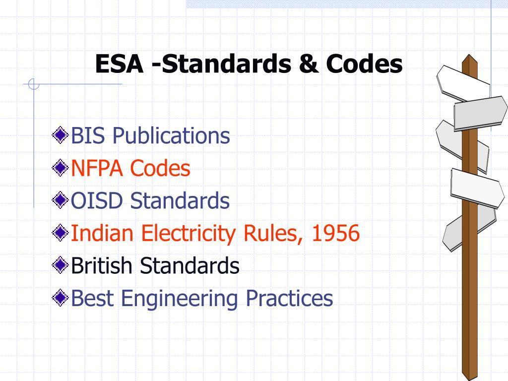 ESA -Standards & Codes