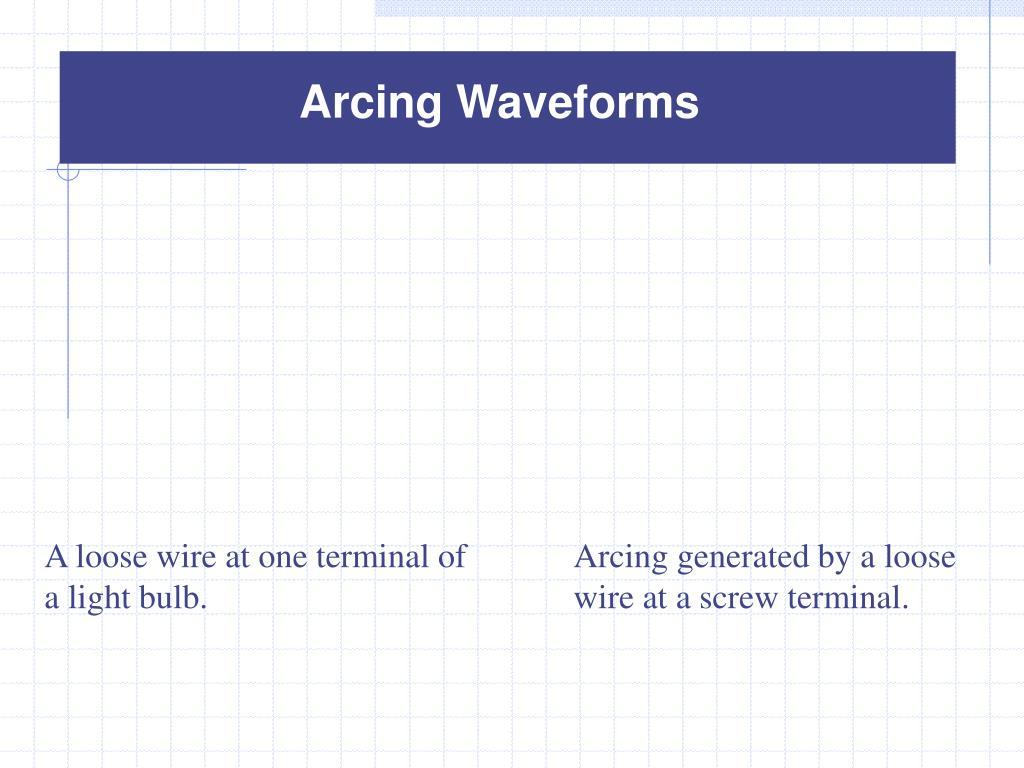 Arcing Waveforms