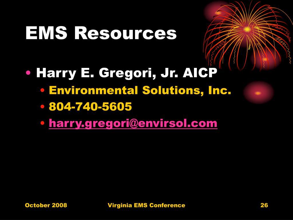 EMS Resources