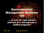 environmental management systems 101