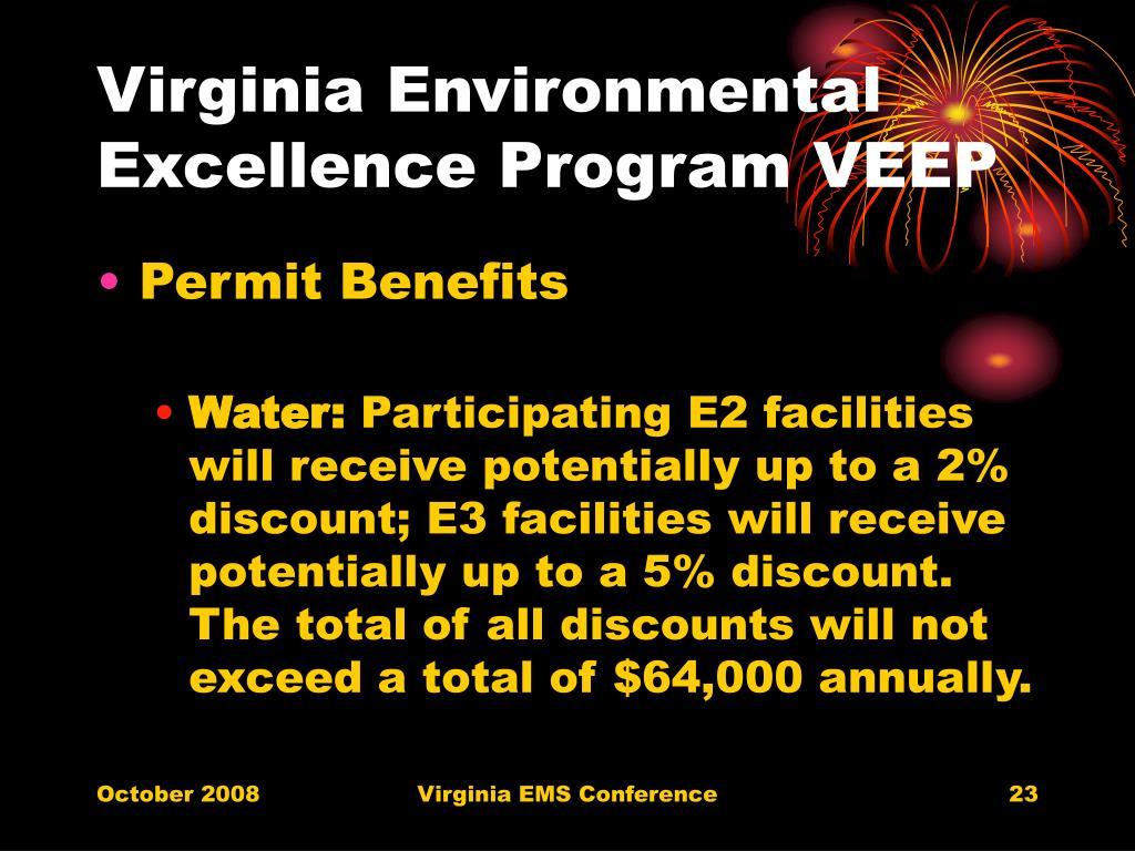 Virginia Environmental Excellence Program VEEP