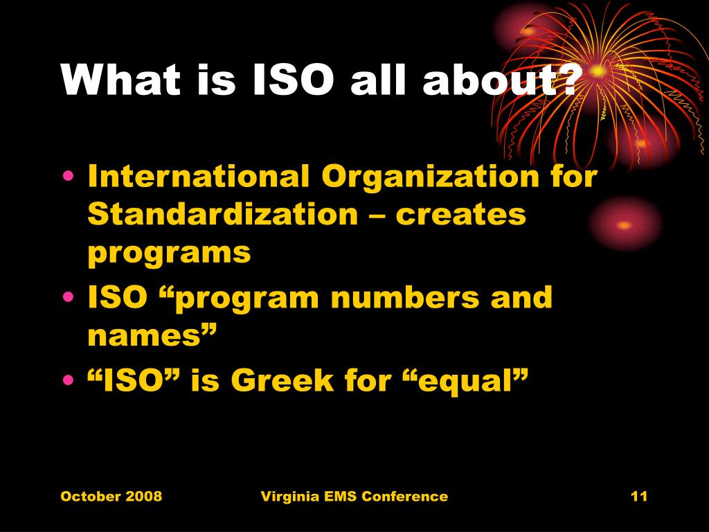 What is ISO all about?