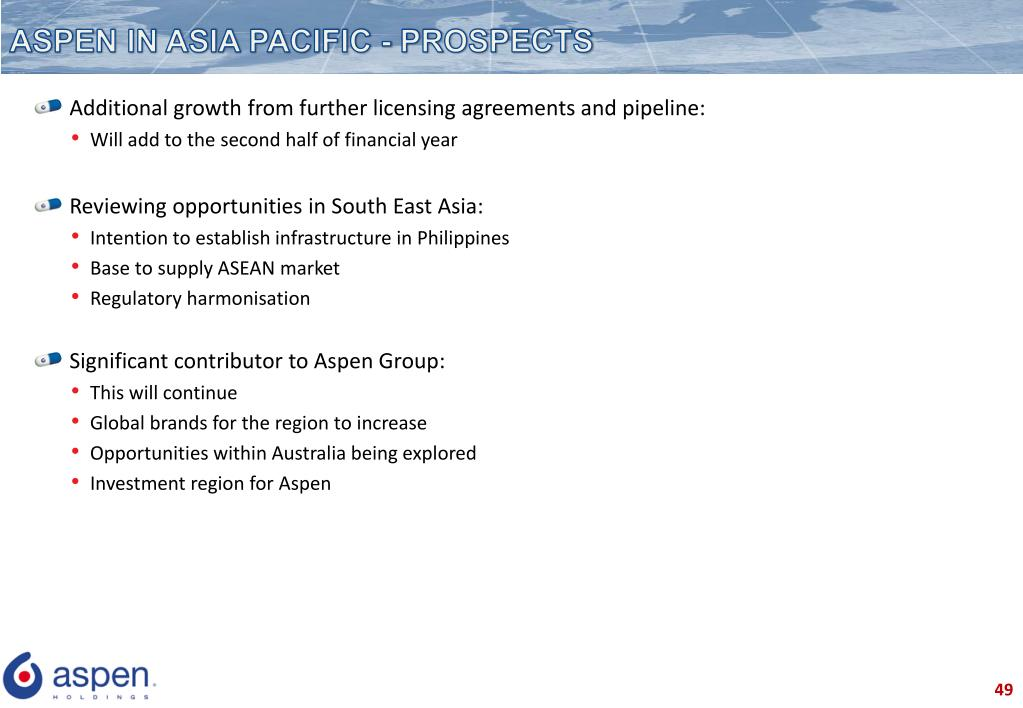 ASPEN IN ASIA PACIFIC - PROSPECTS