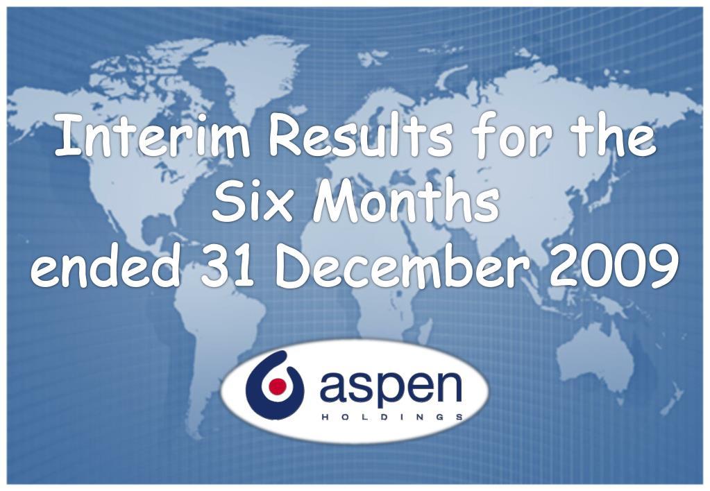 Interim Results for