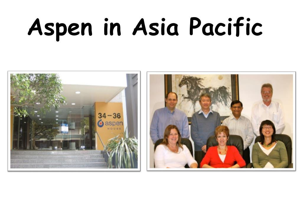 Aspen in Asia Pacific