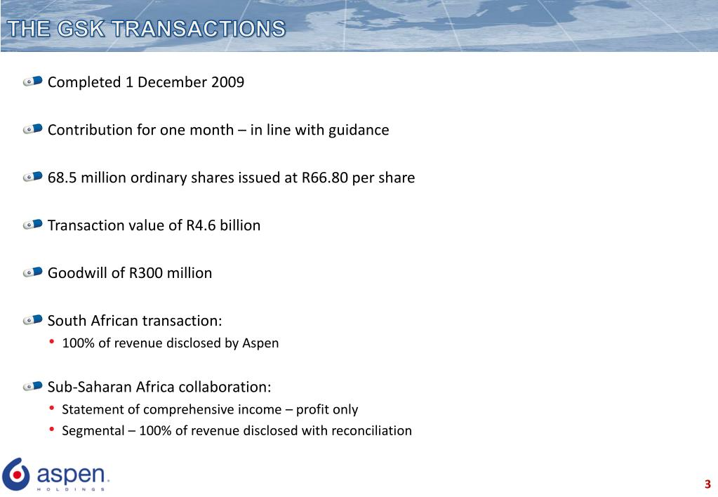 THE GSK TRANSACTIONS