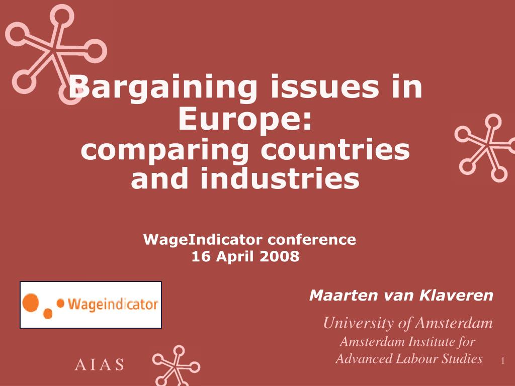 Bargaining issues in Europe