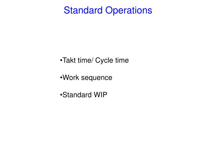 Standard operations3