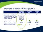 example sharon s costs cont17