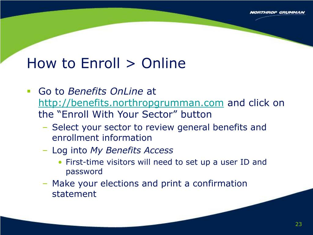 How to Enroll > Online