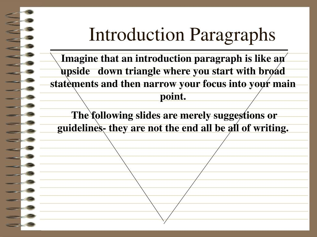 Introduction Paragraphs