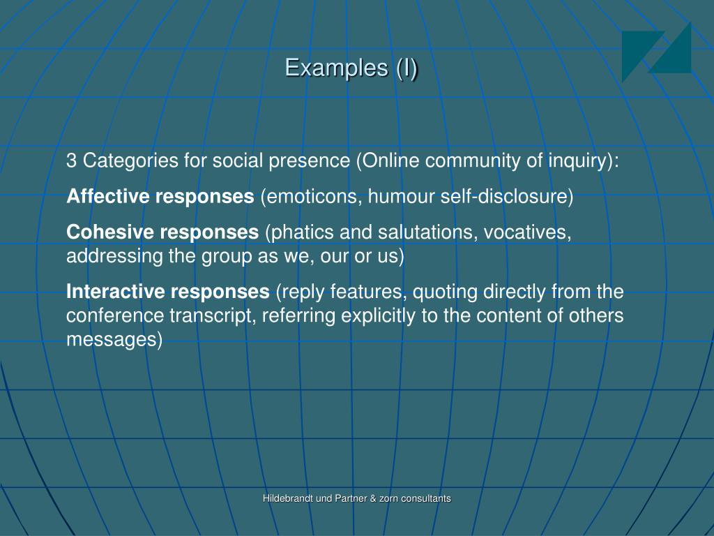 Examples (I)