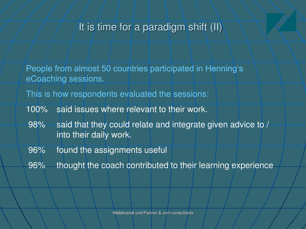 It is time for a paradigm shift (II)