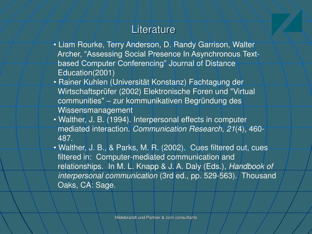 Liam Rourke, Terry Anderson, D. Randy Garrison, Walter