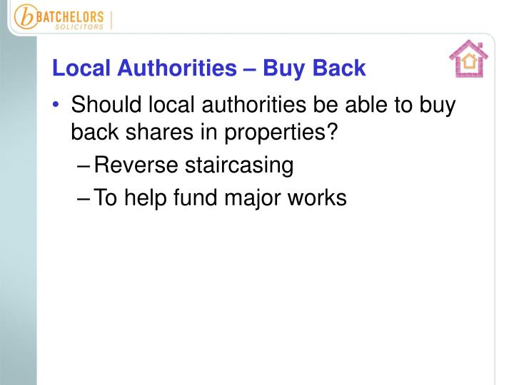 Local Authorities – Buy Back