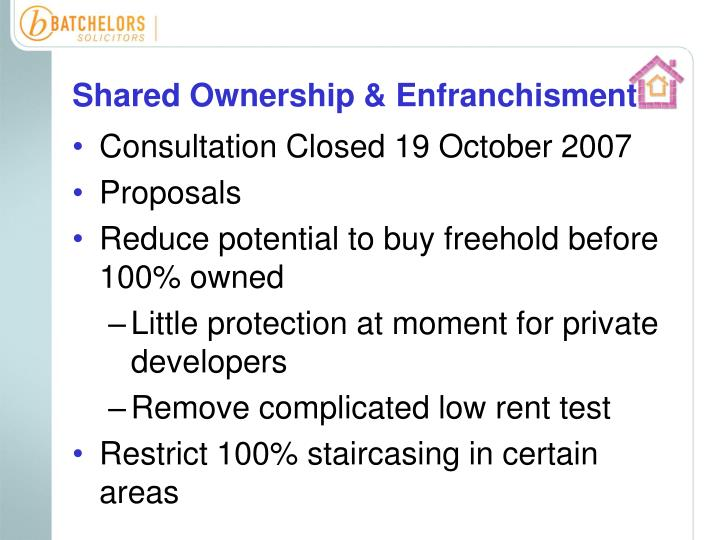 Shared Ownership & Enfranchisment