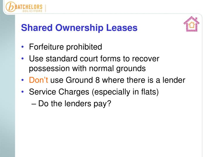 Shared Ownership Leases