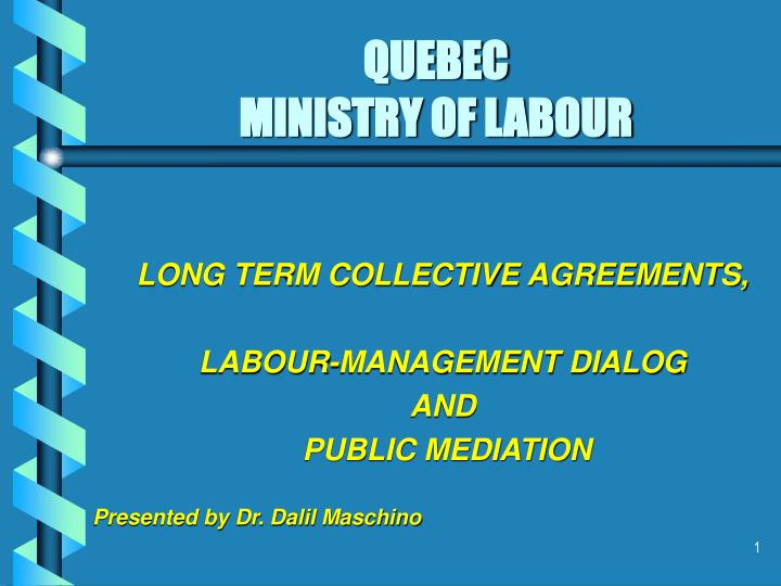 Quebec ministry of labour