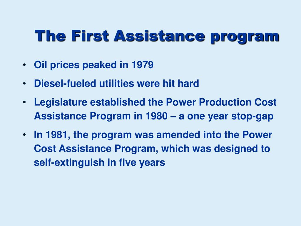 The First Assistance program