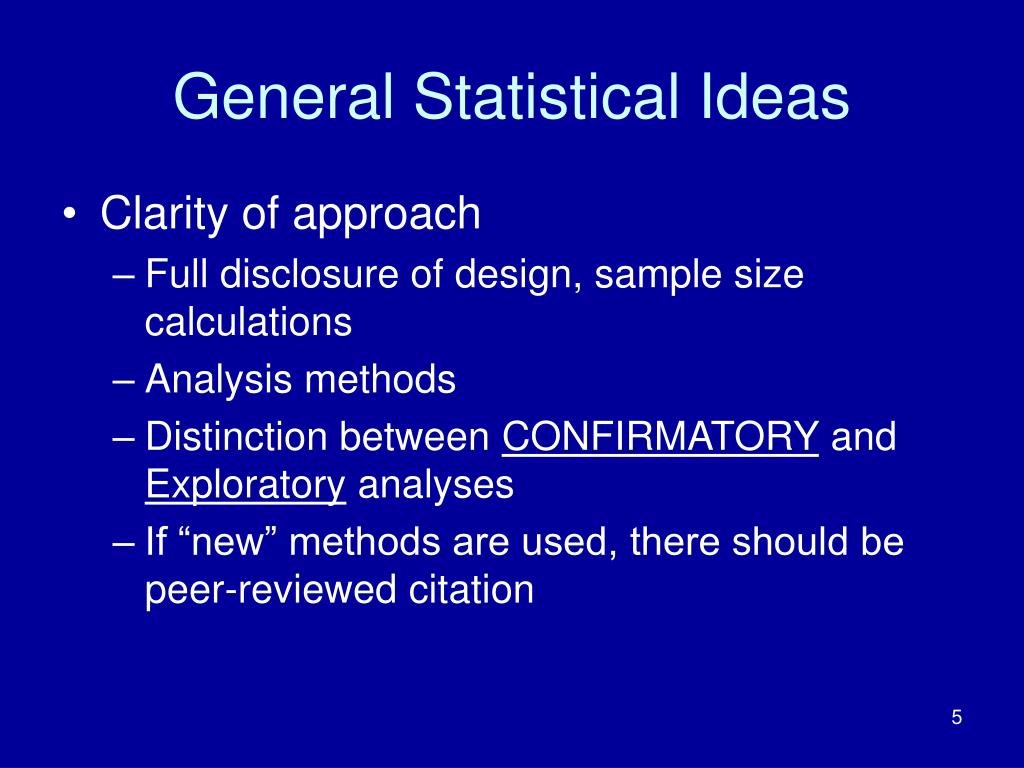 General Statistical Ideas