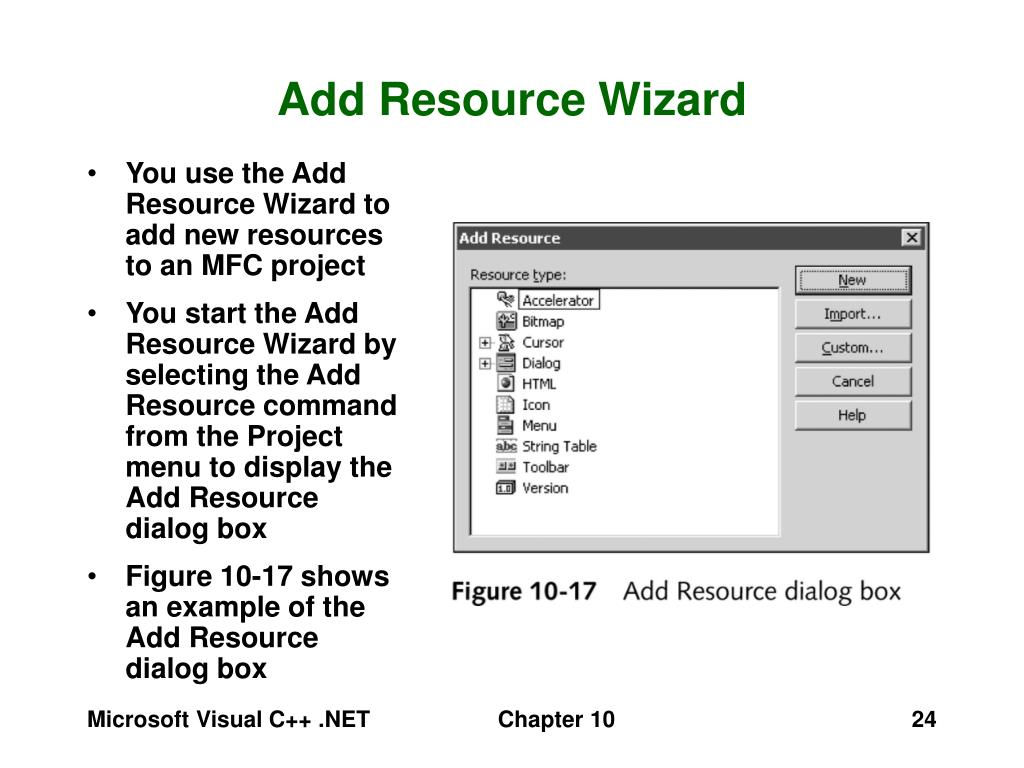 Add Resource Wizard