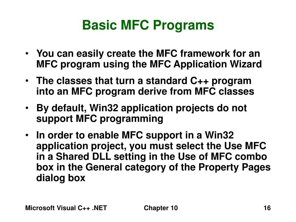 Basic MFC Programs
