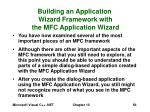 building an application wizard framework with the mfc application wizard