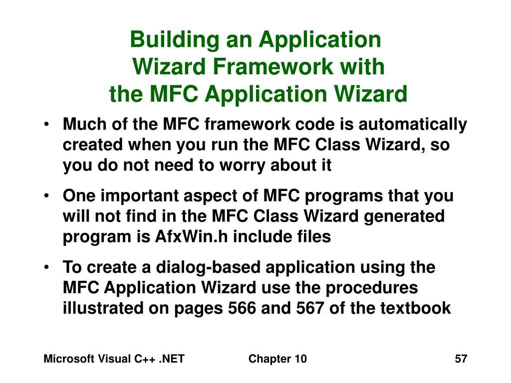 Building an Application